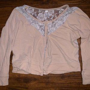 Lace cardigan size Medium Medium Junior's
